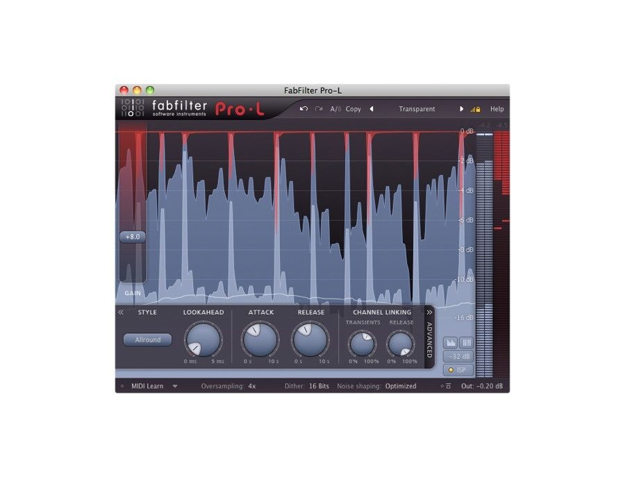 Picture of FabFilter Pro-L Limiter Plugin